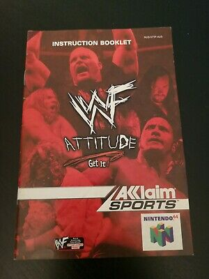 Nintendo 64 WWF Attitude Manual booklet only N64
