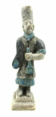 Ancient Chinese Ming Dynasty attendant / gardner statue - Circa 1368–1644 AD