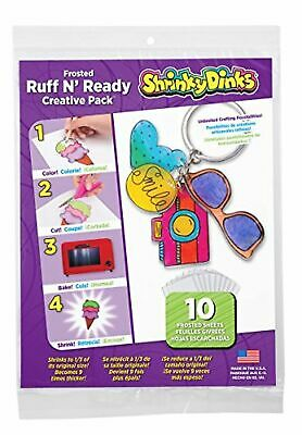 Shrinky Dinks Creative Pack 10 Sheets Frosted White Age 5 And up Brand New