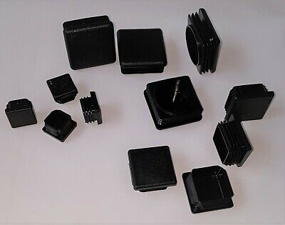 Black Plastic End Caps / Bungs / Plugs / Inserts For Square Steel Box Section
