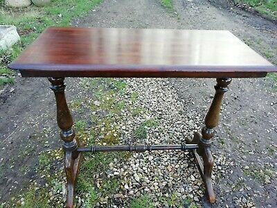 Georgian Mahogany Double Pedestal Side Hall Lamp Table Repaired & Restored
