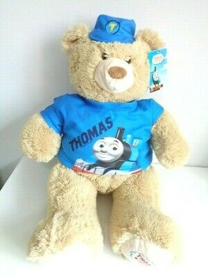 "LARGE 23"" THOMAS THE TANK ENGINE TEDDY BEAR from THOMAS LAND - NEW WITH TAG"