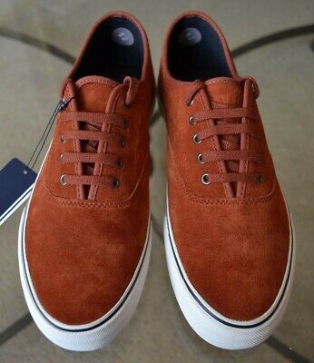 c10944429d Fred Perry Mens Clarence Trainers Suede Pumps Deck Shoes Dark Cinnamon UK  Sz.6.5
