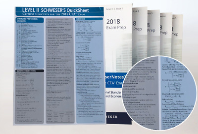 2018 CFA Level 2 Exams Kaplan Schweser Notes and Practice Exams Complete Package