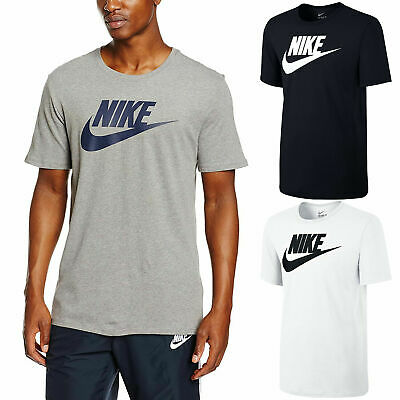 b09a96d0 Nike Mens Icon Futura Gym Sports Cotton Tee T-Shirt Top Swoosh Size S M L XL