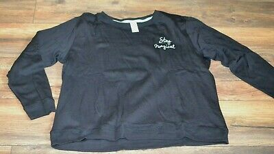 So Intimates Juniors Stay Magical Pajama Separates Sweatshirt Style Top Size XL