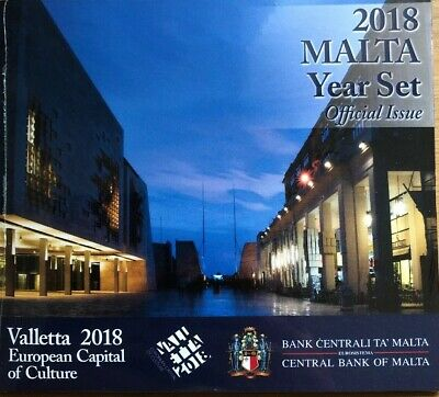 Malta Coins Set 2018 Year Set Official Issue BUNC New In Folder