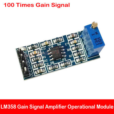 LM358 100X GAIN signal amplification module operational