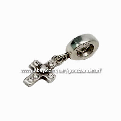 7bbbc41ca0266 AUTHENTIC PANDORA FAITH Cross Sterling Silver and Clear CZ Charm ...