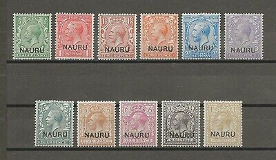 NAURU 1916 SG 1/12 MINT Cat £85