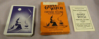 Gypsy Witch Fortune Telling Cards - Complete With Instruction