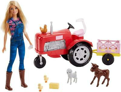 Barbie FRM18 CAREERS Farmer Tractor, Farm Yard Accessories, Blonde Doll...