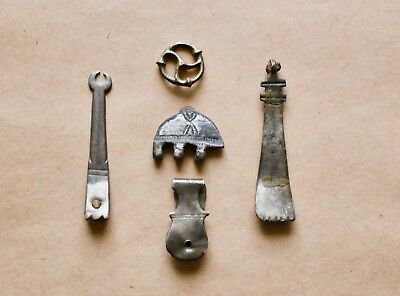 Roman and Byzantine Silver Strap End and Mount Group (2nd-7th cent.).Nice pieces