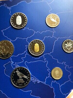 Hungary Coins Set 2004 Proof 8x Forint Coins New folder Accession To EU