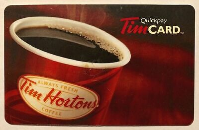 Tim Hortons Gift Card STEAMING TAKEAWAY CUP Tims Coffee Tea Donut Canada EUC