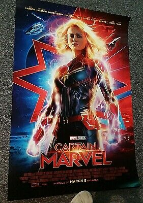 Captain Marvel AVENGERS ENDGAME Orig DS movie poster 27x40 D/S FINAL Brie Larson