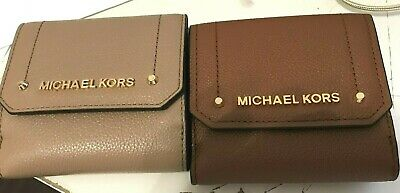 d5b7b6578749 Michael Kors Hayes MD Compact Trifold Coin Case Card Wallet w/ Billfold  Leather