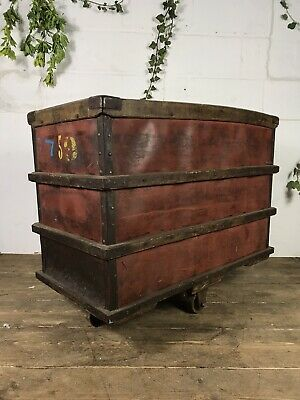Antique Early 20th Century Cotton Mill Trolley Cart