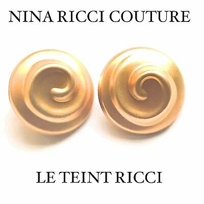 Nins Ricci Couture Gold Le Teint Ricci Huge Statement Earrings