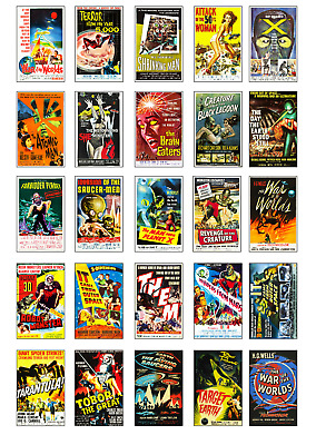 Retro Sci Fi Movie Poster Style Fridge Magnets - Top Quality - Choice of 32