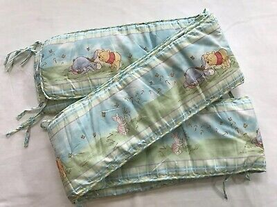 Winnie The Pooh Baby Crib Bumpers Pads Pastel Cute Nursery Linens Bedding