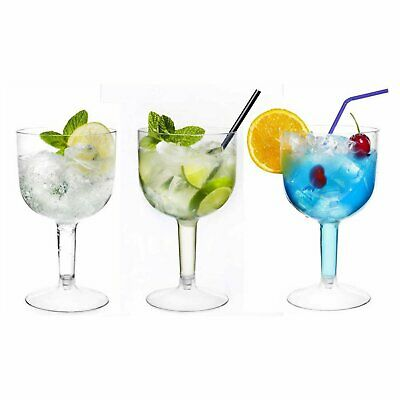 20x Large Plastic Gin Cocktail Wine Disposable Glasses 26.2oz/745ml Outdoor