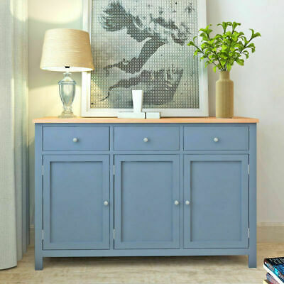 Panana Wooden Sideboard Storage Cabinet Chest of Drawers 3 Doors Large Cupboard
