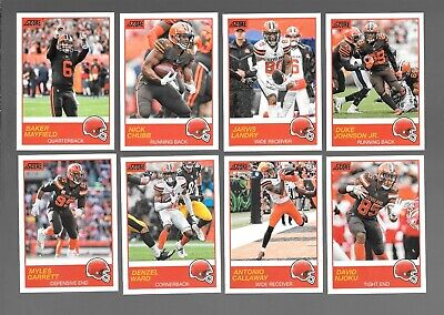 2019 Score Nfl Football Cleveland Browns Team Set (13) 3 Rc's,Williams,Mayfield