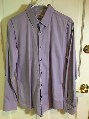 543c07cdf1 EXPRESS 1MX EXTRA Slim Fit Dress Shirt Large Men Purple M NWOT Black ...