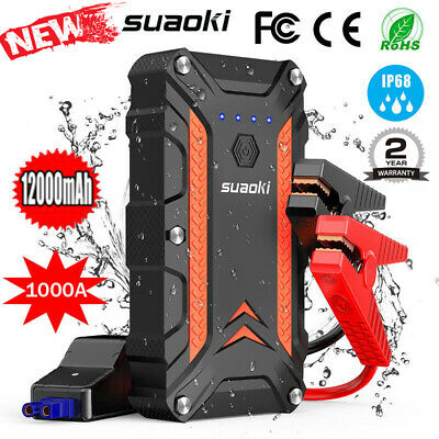 Suaoki 1000A Portable Car Jump Starter Camping Rescue Power Pack Battery Bank OZ