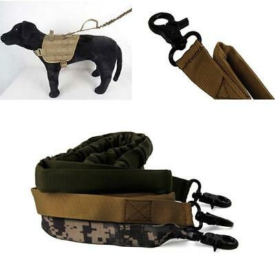 Outdoor Puppy Dog Training Walk Military Tactical Leash Elastic Rope WO