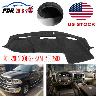 2011-2016 DODGE RAM 1500 2500 Car Truck Dash Cover Carpet Dashboard Mat Dashmat