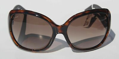 Nwt Gucci Women Sunglasses Gg 3715/S Iniha Dark Havana Brown Black With Case