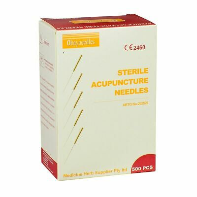 Obayneedles 500 pcs Acupuncture Stainless Needles Various Sizes