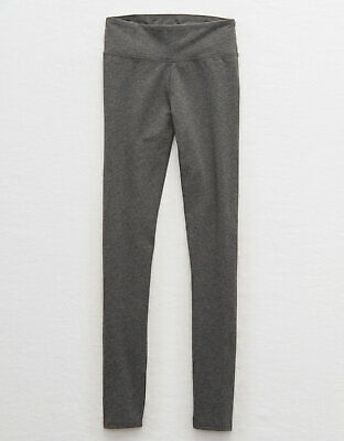 386e35816d4933 NWT American Eagle Aerie Chill Play Move Legging Pants Gray Large Short
