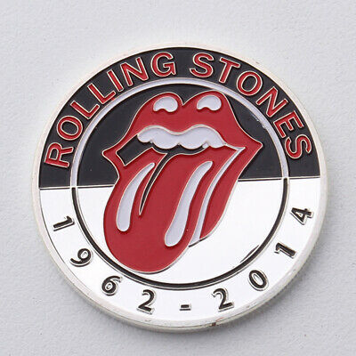 Beatles Rolling Stones Silver plated medallion Custom badge Commemorative coin