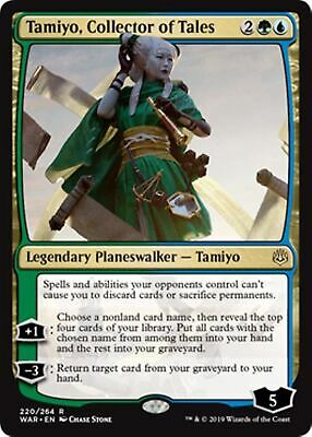 TAMIYO, COLLECTOR OF TALES War of the Spark MTG Gold Planeswalker Rare