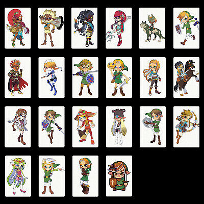 BOTW Item Drop list 20 Hearts Wolf Link 22PCS PVC NFC Switch Tag Game Cards