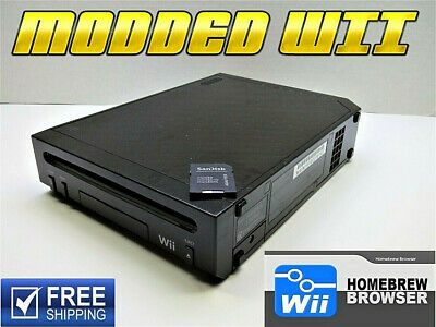 Nintendo Wii  Modded  Homebrew Channel Console & SD EMULATORS INSTALLED