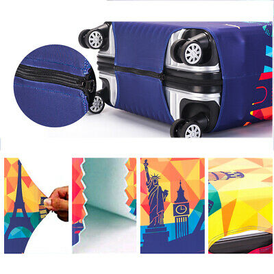 """Elastic Travel Luggage Cover Trolley Case Suitcase Protector Bag fit 18-32"""" New"""