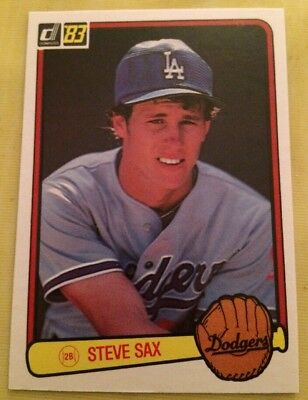1983 Donruss 336 Steve Sax Los Angeles Dodgers Baseball