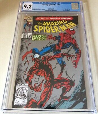 Amazing Spider-Man #361 CGC 9.2 2nd Print Carnage Spawn Of Venom Bagley Emberlin