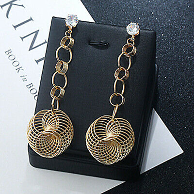 1 set New Women Fashion Multi Big Round Circle Hoop Dangle Gold/Silver Earrings