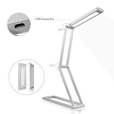 Office Portable USB Rechargeable Table Lamp Led Aluminum Alloy Eye Care Foldable