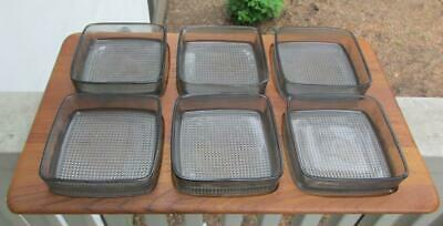 1960's 2nd Edition MCM Danish DIGSMED Teak Wood Tray w/ 6 Glass Square Low Bowls
