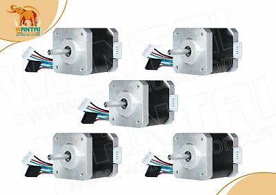 EU free!5pcs stepper motor Nema17 42BYGHW811L20P1-X2 single shaft 0.48N.m  2.5A