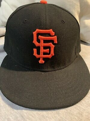 buy online 2ef5b b52dc New Era San Francisco SF Giants 59Fifty Fitted Hat (Black) MLB Cap Hat  Authentic