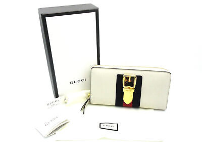 e60a1c2230ec Authentic GUCCI Sylvie Leather Zip Around Wallet Style 476083 18026061KT