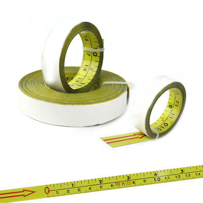 1*Scale Tape Ruler Inch&Metric Self-Adhesive Measure Steel Miter Saw Miter Track