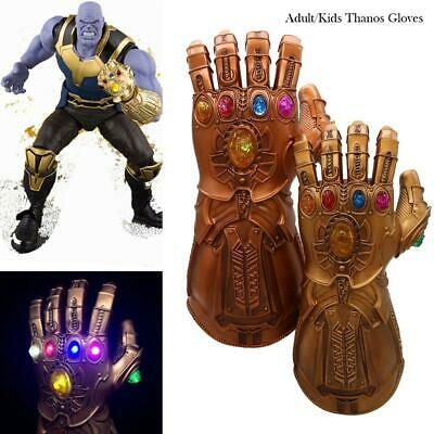 Avenge 4 Infinity War Infinity Gauntlet LED Cosplay Thanos Gloves With LED ON